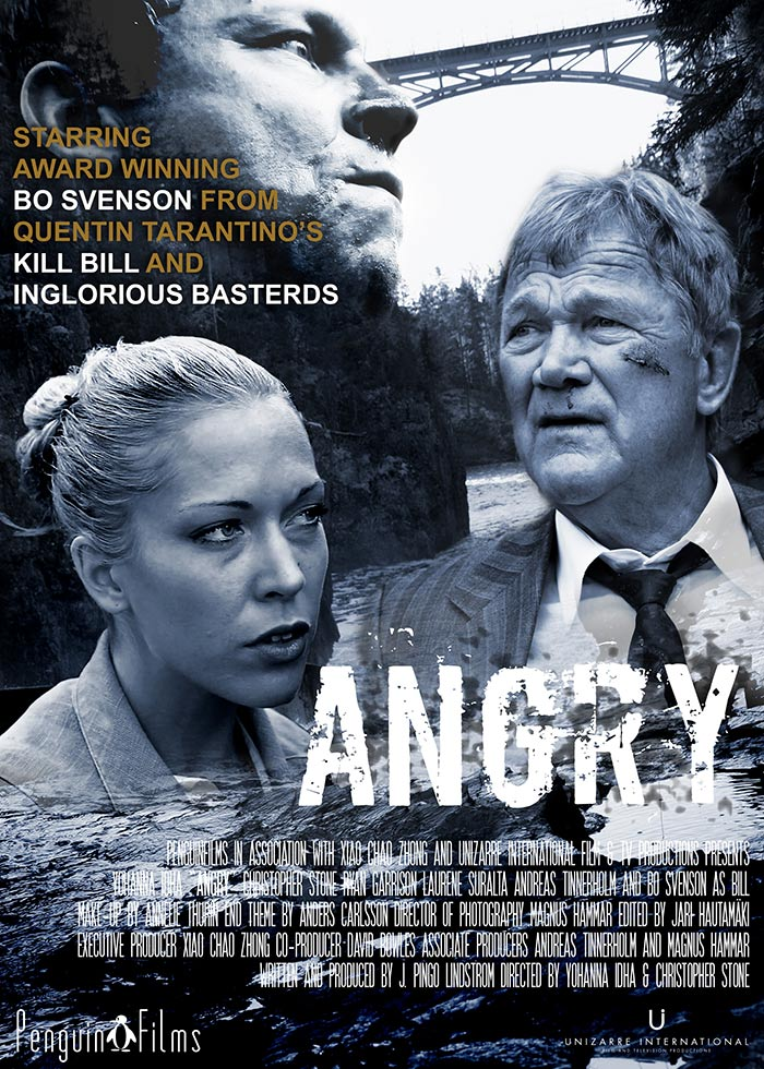ANGRY, thriller/drama/horror, feature film, starring Bo Svenson and Yohanna Idha