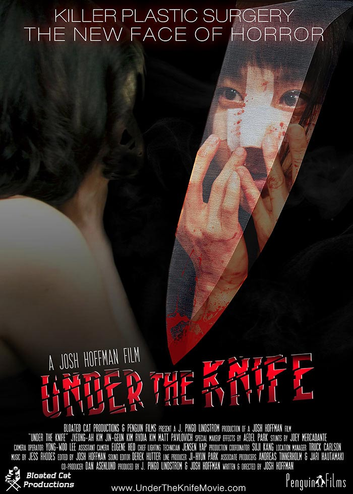 UNDER THE KNIFE, horror/sci-fi, feature film, directed by Josh Hoffman.